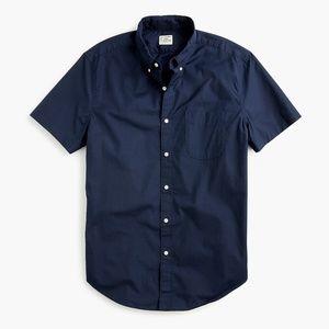 New J Crew Secret Wash Poplin Shot Sleeve Shirt